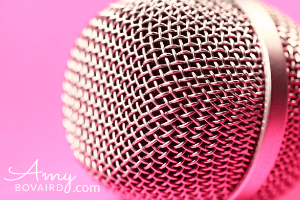 Microphone - Mission Impossible blog post by Amy Bovaird Author Speaker Coach