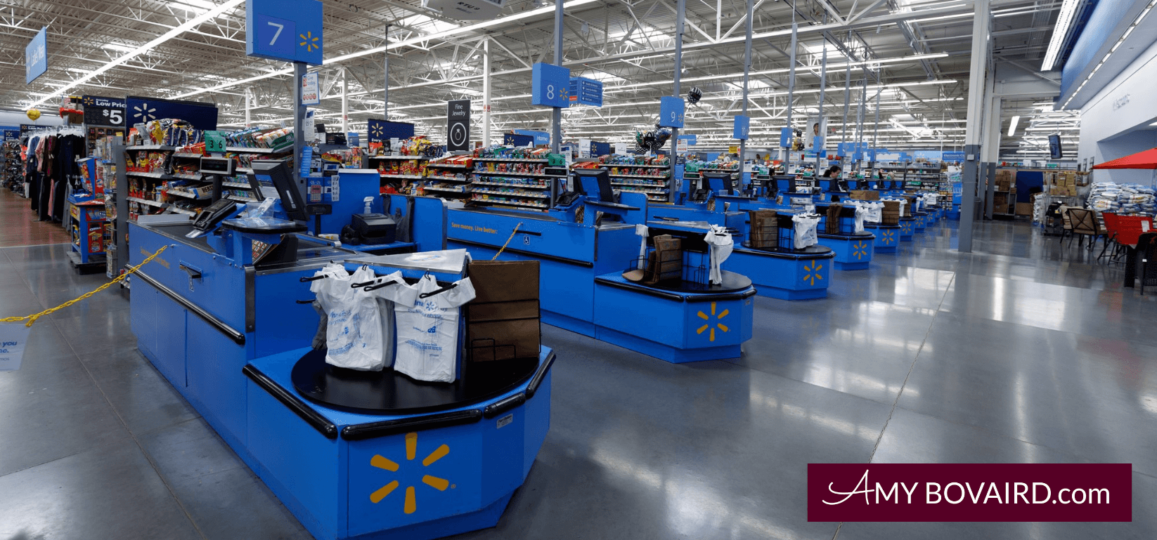 image of wal mart for Amy Bovairds post called completing the shopping expedition part two