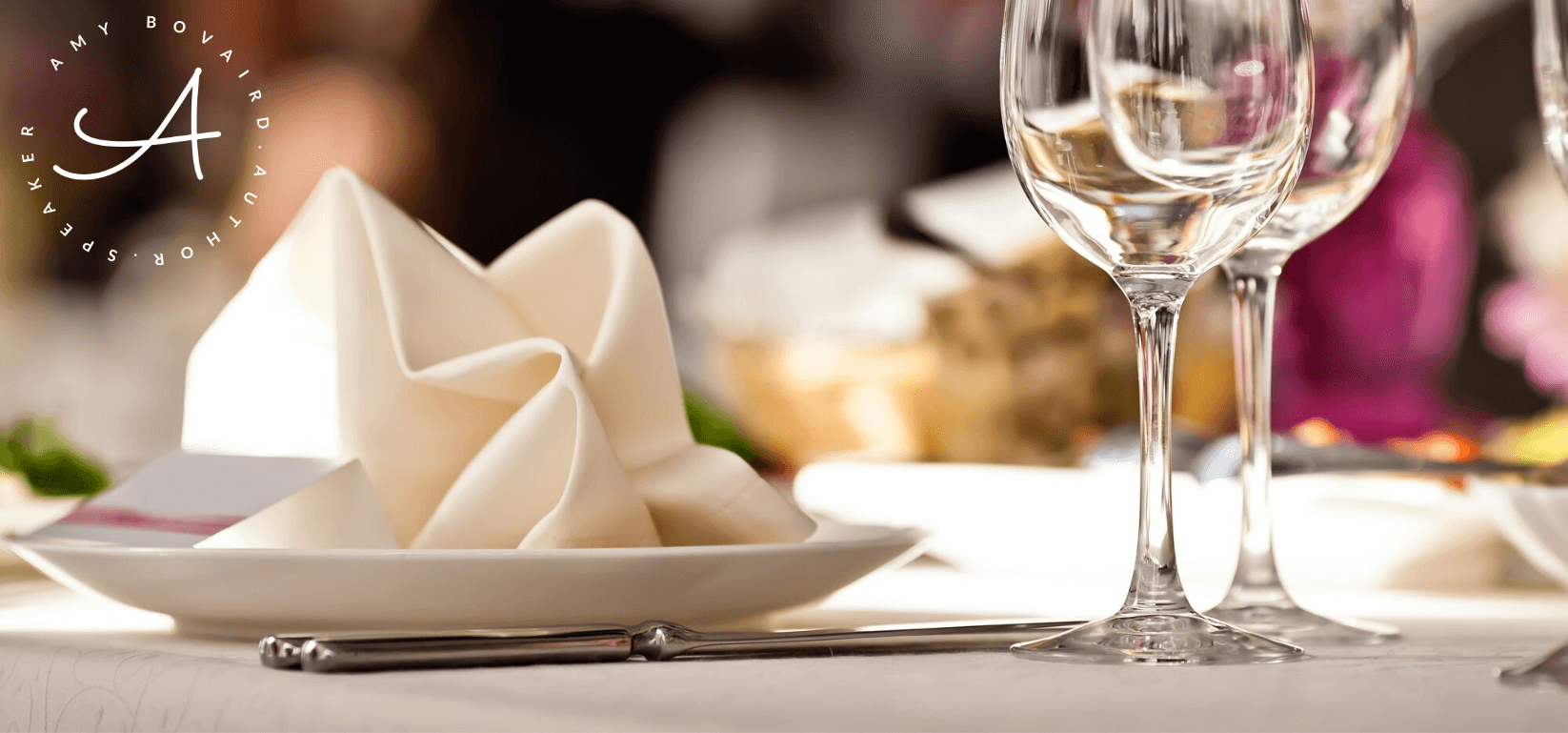 Elegant dining table place setting