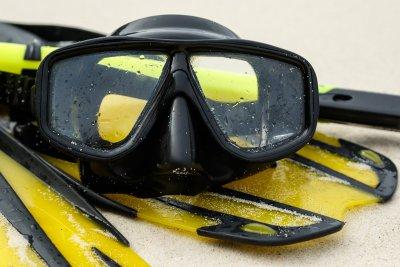 yellow snorkeling gear