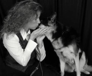 Ramona Rice with her service dog