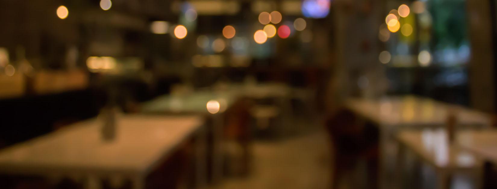 dark blurry restaurant