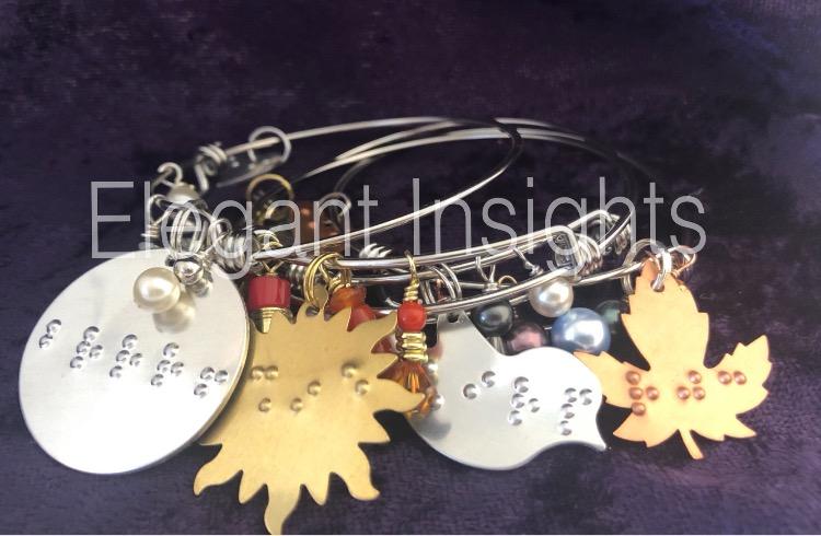 braille charm bracelet